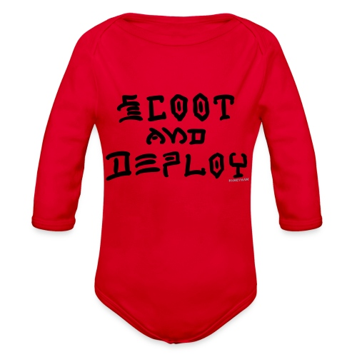 Scoot and Deploy - Organic Long Sleeve Baby Bodysuit