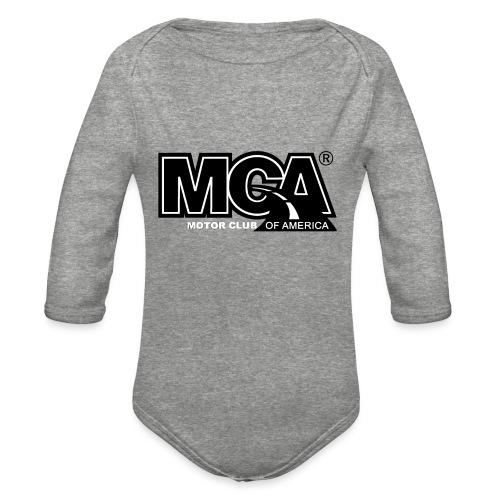MCA Logo WBG Transparent BLACK TITLEfw fw png - Organic Long Sleeve Baby Bodysuit