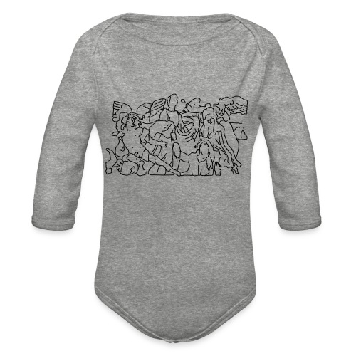 Pergamon Altar Berlin - Organic Long Sleeve Baby Bodysuit