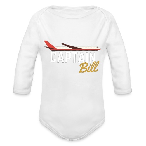 Captain Bill Avaition products - Organic Long Sleeve Baby Bodysuit
