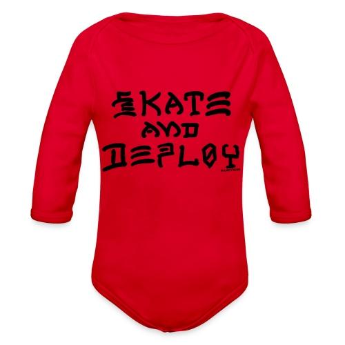 Skate and Deploy - Organic Long Sleeve Baby Bodysuit
