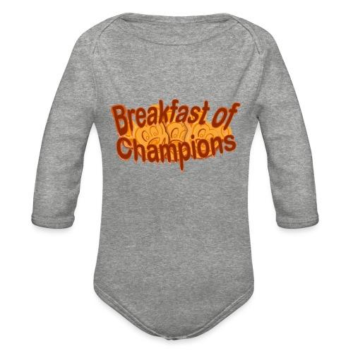 Breakfast of Champions - Organic Long Sleeve Baby Bodysuit