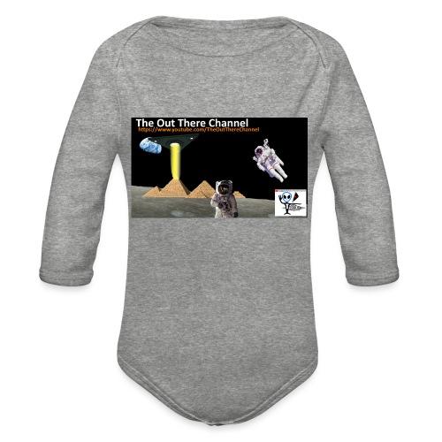 UFO Pyramids2019 New Logo with Back Crew Logo - Organic Long Sleeve Baby Bodysuit