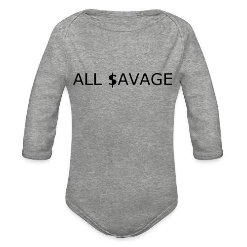 ALL $avage - Organic Long Sleeve Baby Bodysuit