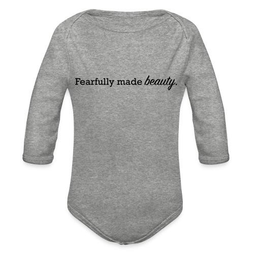 fearfully made beauty - Organic Long Sleeve Baby Bodysuit