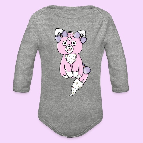 Lolipup Pack: Strawberry Pup! - Organic Long Sleeve Baby Bodysuit