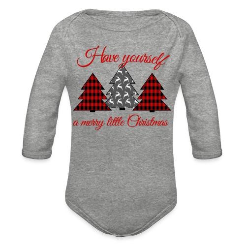 Merry Little Christmas - Organic Long Sleeve Baby Bodysuit