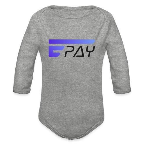 EUNOPAY LOGO BLACK FONT - Organic Long Sleeve Baby Bodysuit