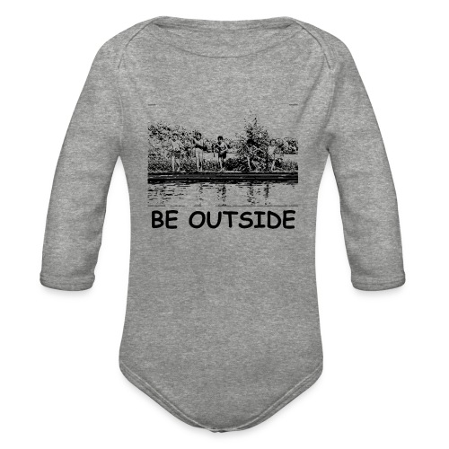 Be Outside - Organic Long Sleeve Baby Bodysuit