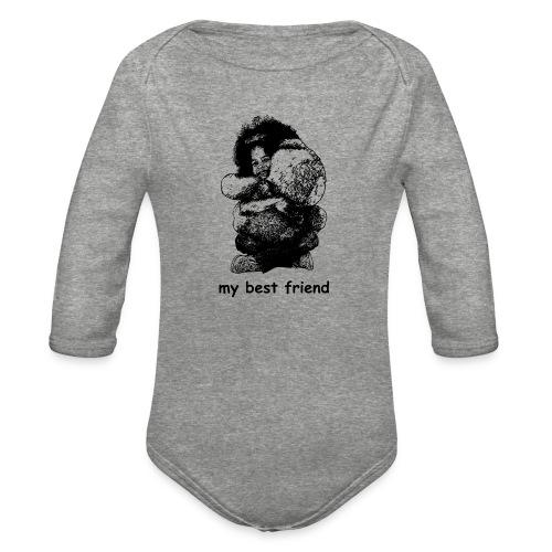 My best friend (girl) - Organic Long Sleeve Baby Bodysuit