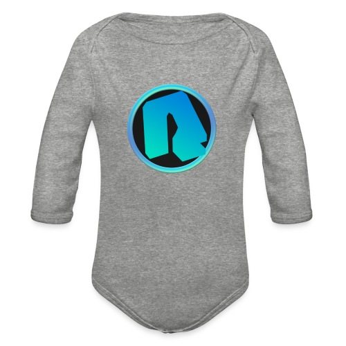 Channel Logo - qppqrently Main Merch - Organic Long Sleeve Baby Bodysuit