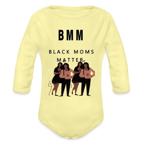 BMM 2 brown - Organic Long Sleeve Baby Bodysuit