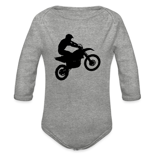 Motocross Dirt biker - Organic Long Sleeve Baby Bodysuit