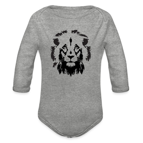 Lion head - Organic Long Sleeve Baby Bodysuit