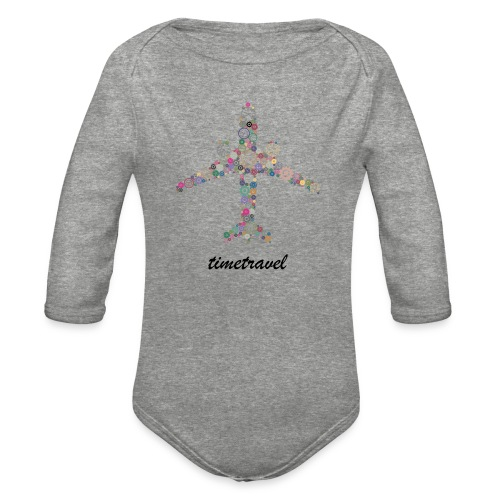 Time To Travel - Organic Long Sleeve Baby Bodysuit