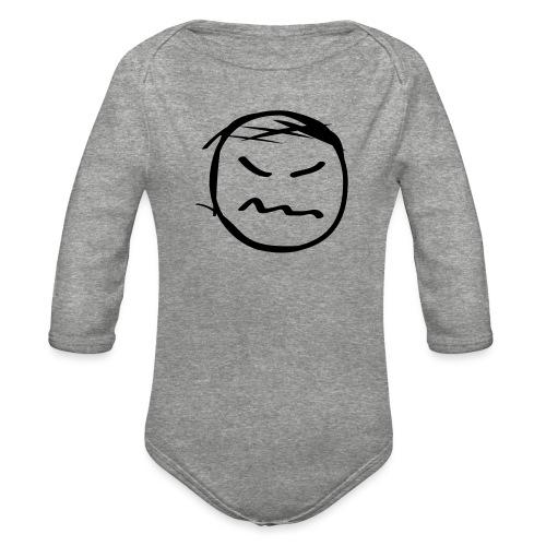 kicky head solo - Organic Long Sleeve Baby Bodysuit