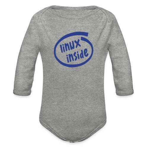 linux inside - Organic Long Sleeve Baby Bodysuit