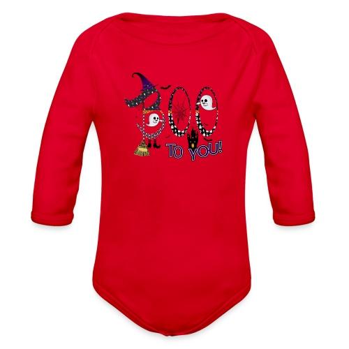 Halloween Boo To You - Organic Long Sleeve Baby Bodysuit