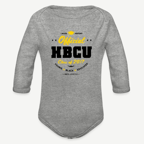 Official HBCU Class of 2017 Grad - Organic Long Sleeve Baby Bodysuit