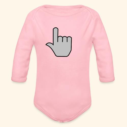click - Organic Long Sleeve Baby Bodysuit