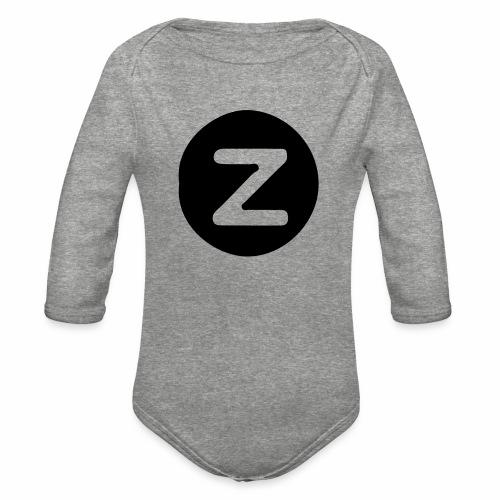 z logo - Organic Long Sleeve Baby Bodysuit