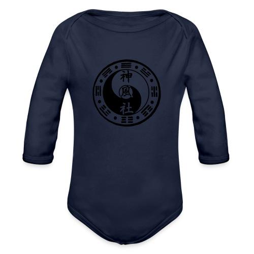 SWC LOGO BLACK - Organic Long Sleeve Baby Bodysuit