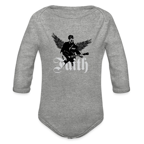 faithwings png - Organic Long Sleeve Baby Bodysuit