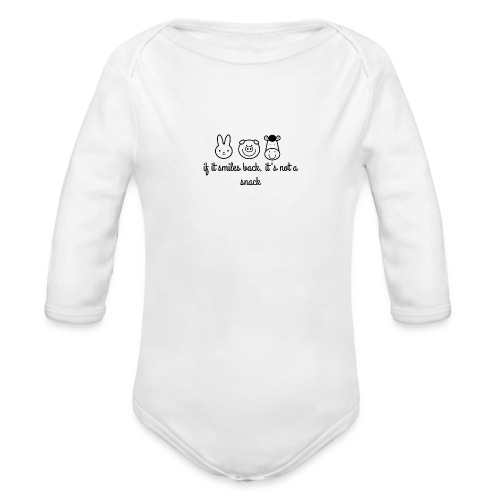 SMILE BACK - Organic Long Sleeve Baby Bodysuit