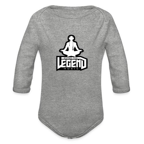 Enter The Legend Music B/W - Organic Long Sleeve Baby Bodysuit