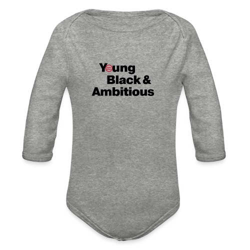 YBA white and gray shirt - Organic Long Sleeve Baby Bodysuit