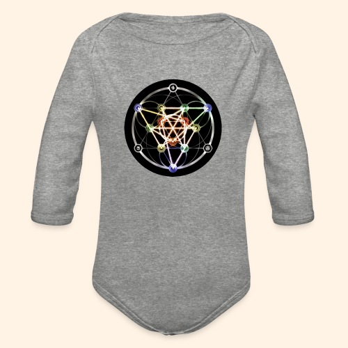 Classic Alchemical Cycle - Organic Long Sleeve Baby Bodysuit