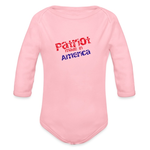 Patriot mug - Organic Long Sleeve Baby Bodysuit