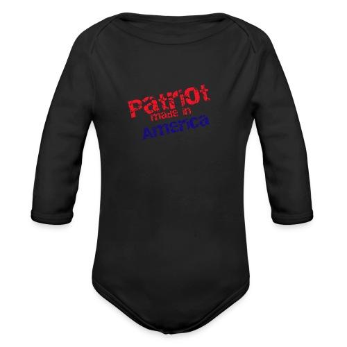 Patriot mug - Organic Long Sleeve Baby Bodysuit