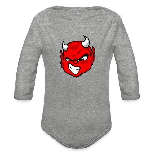 Rebelleart devil - Organic Long Sleeve Baby Bodysuit
