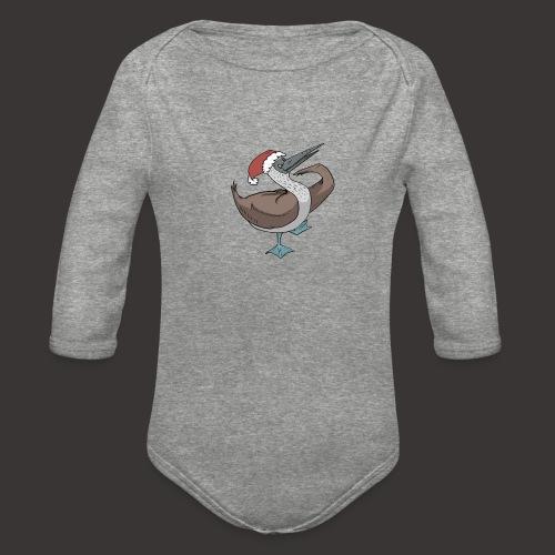 Boobie Bird Xmas Dance - Organic Long Sleeve Baby Bodysuit