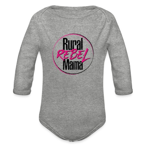 Rural Rebel Mama Logo - Organic Long Sleeve Baby Bodysuit