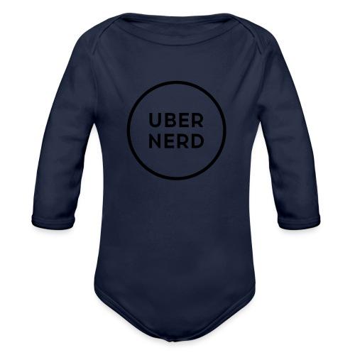 uber nerd logo - Organic Long Sleeve Baby Bodysuit