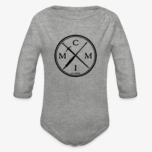 pen x sword - Organic Long Sleeve Baby Bodysuit