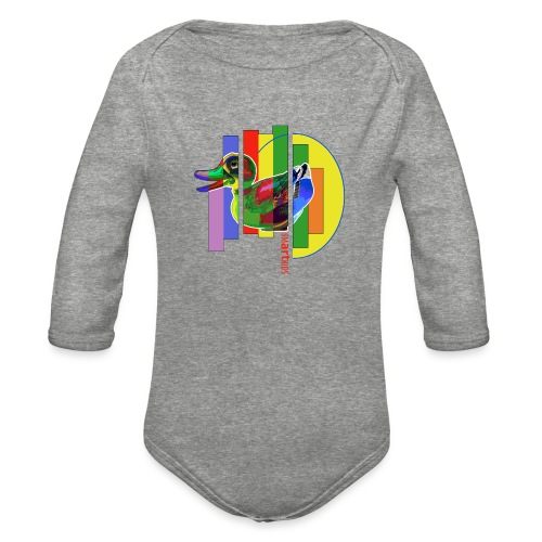 smARTkids - Gutsy Duck - Organic Long Sleeve Baby Bodysuit