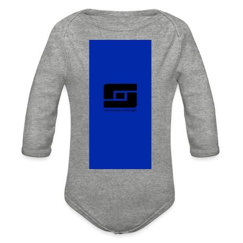 blacks i5 - Organic Long Sleeve Baby Bodysuit