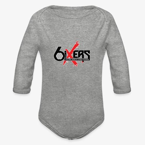 6ixersLogo - Organic Long Sleeve Baby Bodysuit
