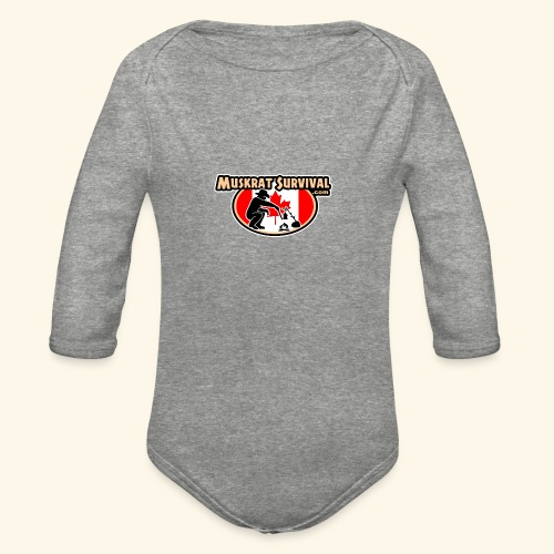 Muskrat Badge 2020 - Organic Long Sleeve Baby Bodysuit