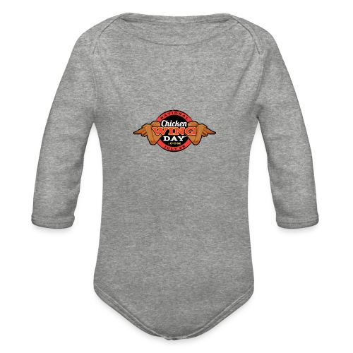 Chicken Wing Day - Organic Long Sleeve Baby Bodysuit