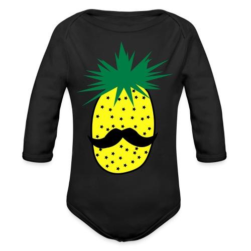 LUPI Pineapple - Organic Long Sleeve Baby Bodysuit