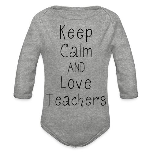 keepcalm - Organic Long Sleeve Baby Bodysuit