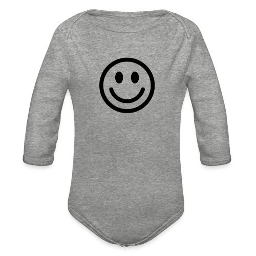 smile - Organic Long Sleeve Baby Bodysuit