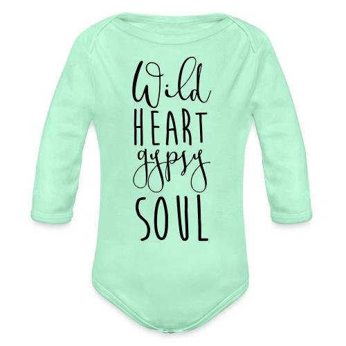 Cosmos 'Wild Heart Gypsy Sould' - Organic Long Sleeve Baby Bodysuit