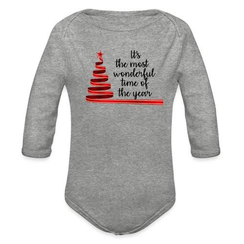 Wonderful time of the year - Organic Long Sleeve Baby Bodysuit