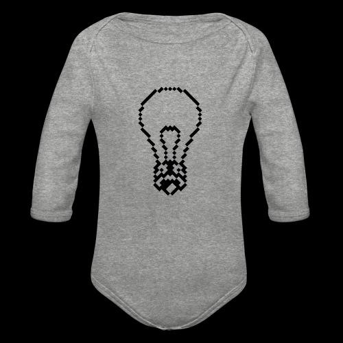 lightbulb - Organic Long Sleeve Baby Bodysuit