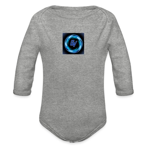 MY YOUTUBE LOGO 3 - Organic Long Sleeve Baby Bodysuit
